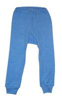 Organic Wool/ Silk/ Cotton Long Johns for Children Color: Blue