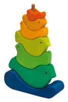 Wooden Bird Stacking Tower