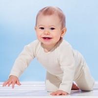 Ruskovilla Organic Merino Wool Long Sleeved Baby Shirt