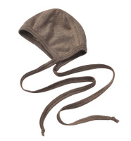 Organic Wool/ Silk Baby Bonnet  Color: 75 walnut