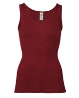 Wool/ Silk Tank Top for Women Color: Malve