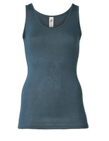 Wool/ Silk Tank Top for Women Color: Atlantic