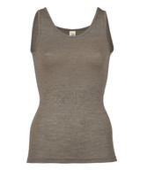 Wool/ Silk Tank Top for Women Color: Walnut