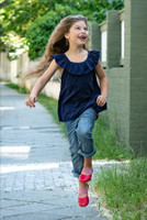 Natural Leather Children's Ballerina Shoes