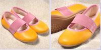 Natural Leather Children's Ballerina Shoes Color: MangoTango