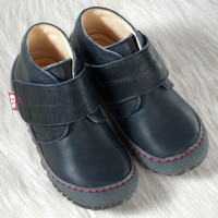Pololo Natural Leather Shoes Color: Navy