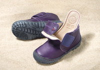 Pololo Natural Leather Shoes Color: Aubergine