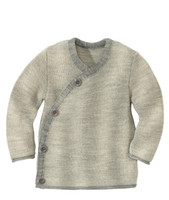 Disana Organic Wool Melange Jacket Sweater Color: 11 Grey Nature