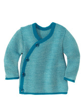 Disana Organic Wool Melange Jacket Sweater Color: 21 Blue Nature