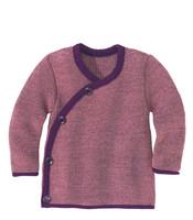Disana Organic Wool Melange Jacket Sweater Color: 53 Plum Rose