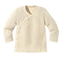 Disana Organic Wool Melange Jacket Sweater Color: Natural