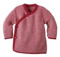Disana Organic Wool Melange Jacket Sweater Color: Red