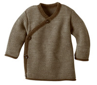 Disana Organic Wool Melange Jacket Sweater Color: Hazelnut