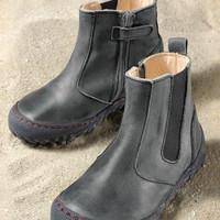 schieferNatural Leather Children's Boots