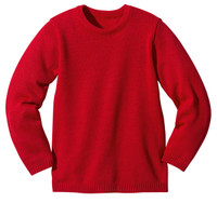 Disana Organic Wool Basic Lightweight Sweater Color: Red