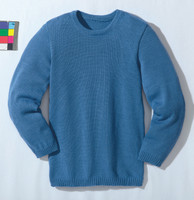 Disana Organic Wool Basic Lightweight Sweater Color: Blue