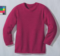 Disana Organic Wool Basic Lightweight Sweater Color: Berry