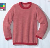 Disana Organic Wool Basic Lightweight Sweater Color: Red Melange
