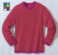 Disana Organic Wool Basic Lightweight Sweater Color: Berry Melange