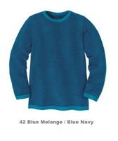 Disana Organic Wool Basic Lightweight Sweater Color: Blue Melange