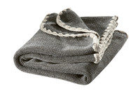 Disana Organic Wool Melange Knitted Blanket Color:  Antracit Melange