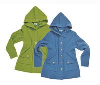 Wool Fleece Hooded Coat