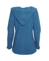 Wool Fleece Hooded Coat Color: Pacific