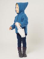 Organic Wool Fleece Hooded Jacket