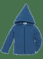 Organic Wool Fleece Hooded Jacket Color: Pacific