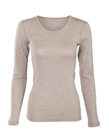 Women's Long Sleeve Long Underwear Shirt | Organic Merino Wool / Cotton
