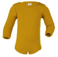Baby Bodysuit, Organic Merino Wool/Silk Color: 18E safron