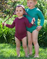 Baby Bodysuit, Organic Merino Wool/Silk
