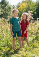 Children's Short Sleeve Shirt, Organic Wool/ Silk