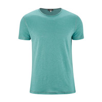 T-Shirt Organic Linen  Color:756 lagoon