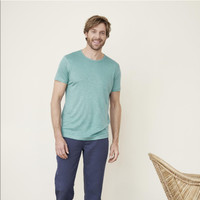 T-Shirt Organic Linen  Color: 756 lagoon