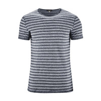 T-Shirt Organic Linen  Color: 761 ink blue/white