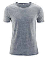 T-Shirt Organic Linen  Color: Cloud Blue Melange