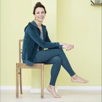 Women Organic Cotton Leggings Color: 76 petrol