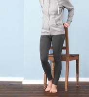 Women Organic Cotton Leggings Color: smoke