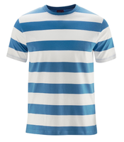 Men's Organic Cotton T-Shirt Color: Blue White