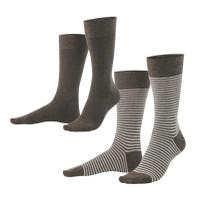 Organic Cotton Men's socks Color: 693 deep taupe melange