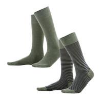 Organic Cotton Men's socks Color: 658 olive/indigo melange