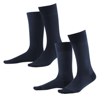 Organic Cotton Men's socks Color: Dark Navy / Indigo Melange