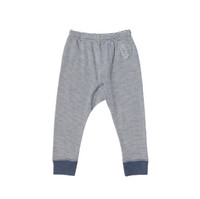 Organic Wool/ Silk Long Johns Color: 238 Natural Blue Striped