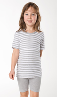 Grey Melange / White Striped