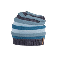 Kids Organic Wool Cotton Silk Hat Color: smoke blue