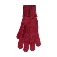 Kids Organic Wool Cotton Silk Gloves Color: 18 wine red