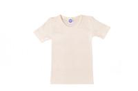 Organic Wool/ Silk Childrens Short Sleeve Shirt Color:  Natural
