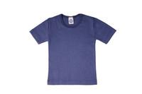 Organic Wool/ Silk Childrens Short Sleeve Shirt Color:  Navy