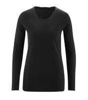 Women's Organic Cotton Long Sleeved Shirt Color: Black